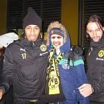 Ruben mit Neven Subotic und seinem Lieblingsspieler Aubemeyang.