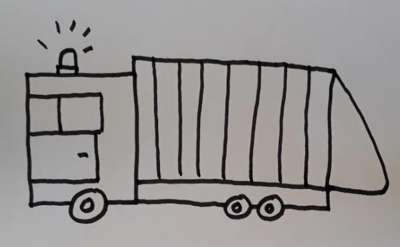 ein Müll-Auto zeichnen