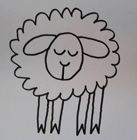 ein Schaf zeichnen