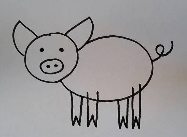ein Schwein zeichnen