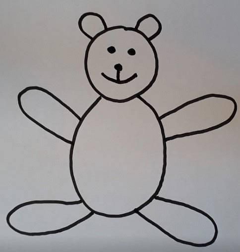 Einen Teddy zeichnen